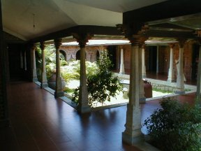 Courtyard of a vastu residence, Tamil Nadu, India